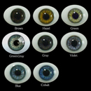 Oval Flat Back Glass Eyes 8mm