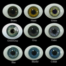 Oval Flat Back Glass Eyes 14mm