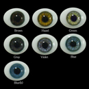 Oval Flat Back Glass Eyes 18mm