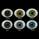 Oval Flat Back Glass Eyes 20mm